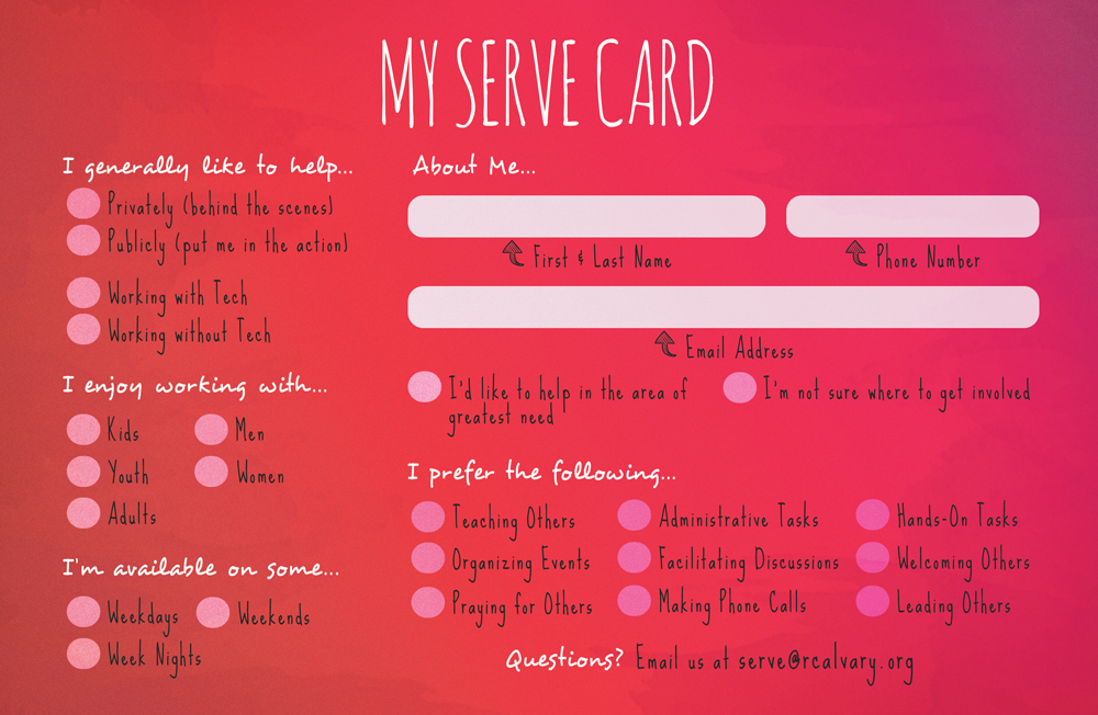 Serve Booklet & Serve Card